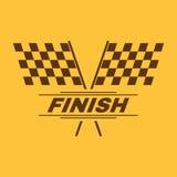 The race flag icon. Finish symbol. Flat. Vector illustration Stock Photos