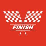 The race flag icon. Finish symbol. Flat. Vector illustration Stock Photography
