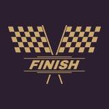 The race flag icon. Finish symbol. Flat. Vector illustration Stock Photo