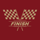 The race flag icon. Finish symbol. Flat. Vector illustration Royalty Free Stock Photos