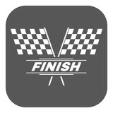 The race flag icon. Finish symbol. Flat Stock Image