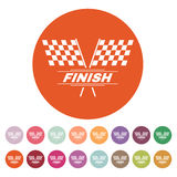 The race flag icon. Finish symbol. Flat Royalty Free Stock Photo