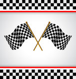 Race flag. Racing background with two race flag Stock Photos