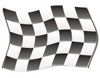 Race flag wind Stock Images