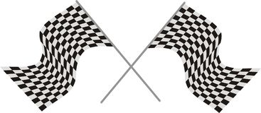 Race flags. Vector illustration color Royalty Free Stock Photography