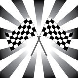 Checkered race flags. Black and white checkered race flags Stock Images