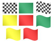 Race Flags EPS10 Royalty Free Stock Images