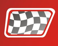 Race flags window Royalty Free Stock Images