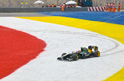 Race of Formula 1 Jarno Trulli, Team Lotus Royalty Free Stock Photos