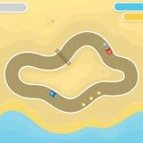 Race game desert landscape Stock Images