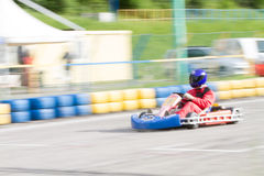 Race go-kart blur Royalty Free Stock Photos