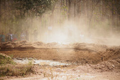 Race ground for Motocross in Thailand Stock Photos