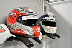 Race helmets Royalty Free Stock Photos