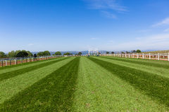 Race Horse Tracks Landscape Stock Photo