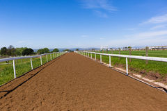 Race Horse Tracks Landscape Royalty Free Stock Image