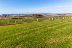 Race Horse Training Tracks Landscape Stock Image