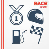 Race icons Royalty Free Stock Photos
