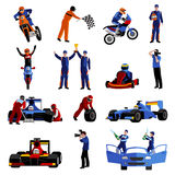 Race Icons Set Royalty Free Stock Image
