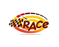 Race illustration Royalty Free Stock Image