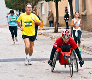 Race for the integration. TUDELA, SPAIN - NOVEMBER 18: unidentified runners participating in the 14th race for the integration,  On november 18, 2012 in Tudela Stock Photos