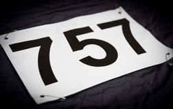 Race jersey number Royalty Free Stock Photo
