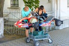 Race karting Stock Photos