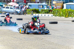 Race karting royalty free stock photo