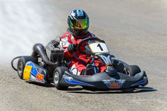 Race karting. In the town square Stock Images