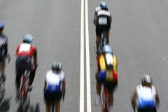 Race Leader. Cyclists in the Cape Argus race in Cape Town Stock Image