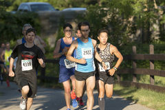 Race leaders at The Belmont Lake Summer Series 5K royalty free stock photos