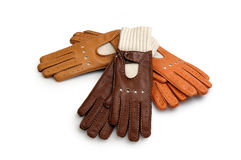 Race leather gloves Royalty Free Stock Photo