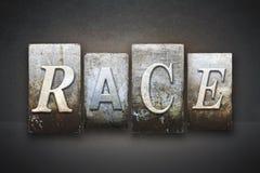 Race Letterpress Stock Photography