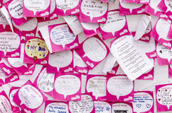Race for life notice board. Royalty Free Stock Images