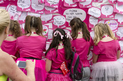 Race for life notice board Stock Photos