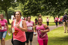Race for Life sponsored fun run Royalty Free Stock Photography