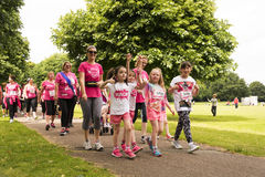 Race for Life sponsored fun run Royalty Free Stock Images