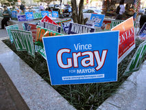 Race for Mayor Stock Photo