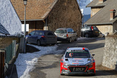 Race through a mountain village Royalty Free Stock Photo