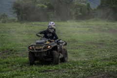 RACE MUD ALL TERRAIN quad bike royalty free stock photography
