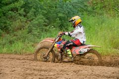 Race in the mud Royalty Free Stock Images