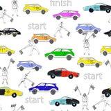 Race pattern Stock Photo