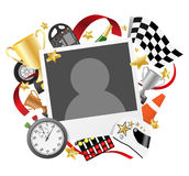 Race photo frame template Royalty Free Stock Images