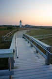 Race Point Light is a historic lighthouse on Cape Cod, Massachusetts Royalty Free Stock Image