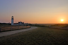 Race Point Light is a historic lighthouse on Cape Cod, Massachusetts.  Royalty Free Stock Photos