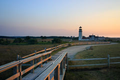 Race Point Light is a historic lighthouse on Cape Cod, Massachusetts.  Royalty Free Stock Images