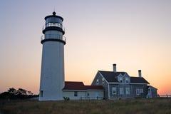 Race Point Light is a historic lighthouse on Cape Cod, Massachusetts Stock Photos