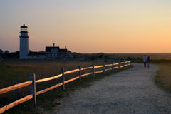 Race Point Light is a historic lighthouse on Cape Cod, Massachusetts Royalty Free Stock Photos