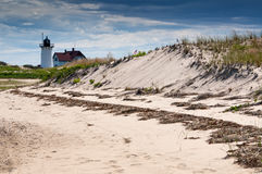 Race Point Lighthouse on Cape Cod National Seashore Royalty Free Stock Image