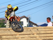 Race problems for enduro rider Royalty Free Stock Image