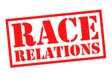 RACE RELATIONS. Red Rubber Stamp over a white background vector illustration